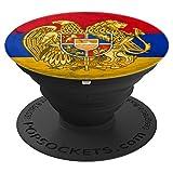 Armenia Emblem over Marble Design %2D Ar