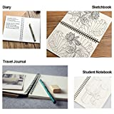 Soft Cover Spiral Notebook Journal 2-Pack, Blank