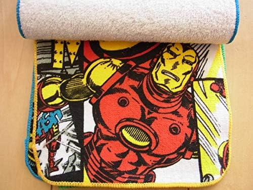 タグ付き MARVELマーベル ミニタオル5枚組 プチタオル ポケットタオル ハンカチ スパイダーマン