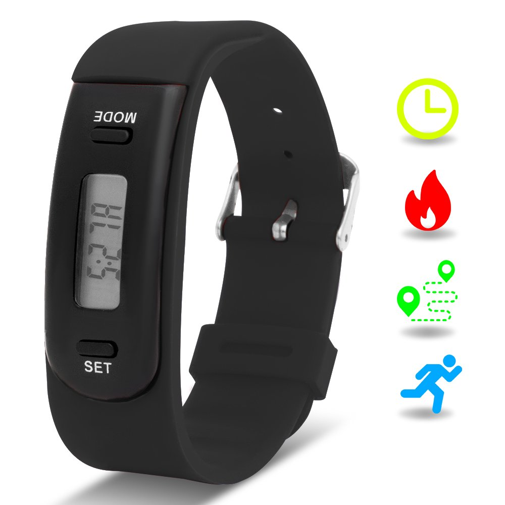 Buy Cheap New Digital Lcd Pedometer Run Step Walking Distance Calorie Counter Watch Bracelet Silicone Wristband For Children Kids Children's Watches