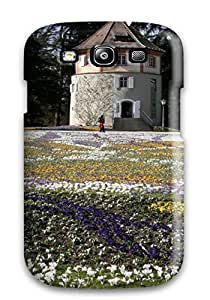 Quality BakerCooleya Case Cover With Spring Mainau Beautiful Flowers Building Nature Other Nice Appearance Compatible With Galaxy S3