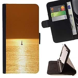 For Samsung Galaxy Note 3 III Case , Mar Velero Velero Verano- la tarjeta de Crédito Slots PU Funda de cuero Monedero caso cubierta de piel
