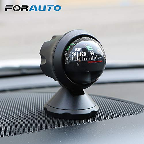MOJITO LIVING PTE Outdoor Direction Guidance Tool Navigation Compass Ball with Adhesive Car Ornaments Interior Accessories Decoration - Ball Decorations Compass