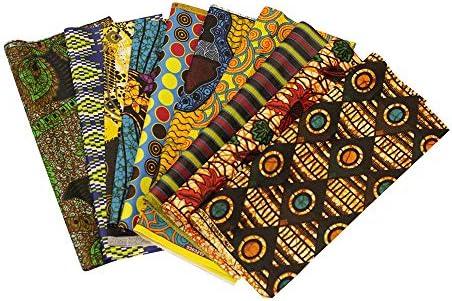 African Ankara Wax Print Fabric - 10 Random Fat Quarters 18 x 22 inches. by Ethnic Prints