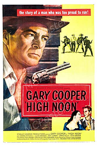 Gary Cooper Movie Poster - MCPosters - High Noon Gary Cooper Glossy Finish Movie Poster - MCP594 (24
