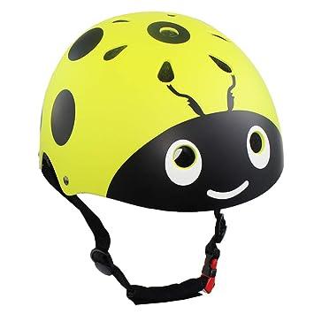 LANOVAGEAR - Casco de seguridad para niños y niñas, para ciclismo, patinaje, etc., diseño de mariquita, color verde, tamaño Small: Amazon.es: Deportes y ...
