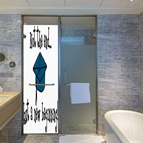 YOLIYANA The Visual Effect of Textured Glass and Stained Glass,Graduation Decor,is Good for Long Year Under The Sunshine,Not End But Beginning Motivational Phrase Graduate Cap,24''x78''