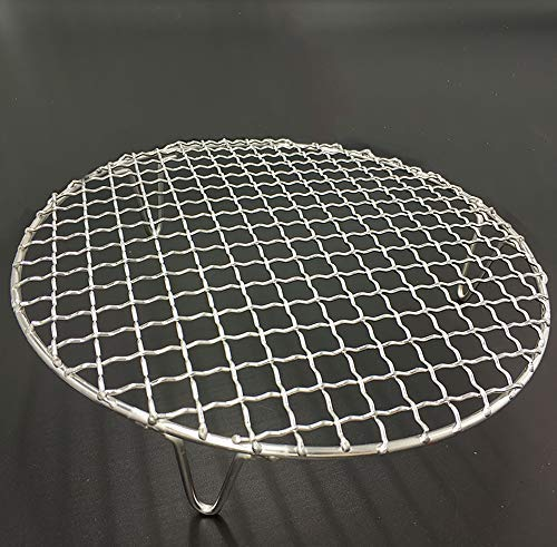 Turbokey Round Grill Barbecue Net, Cross-wire Cooling Rack 2'' Height Durable Stainless Steel Multi-Purpose Baking Barbecue Rack/Food Steamer/Cooking/Baking/Steaming Rack Dia 13'' (330mm/13'') by Turbokey (Image #6)