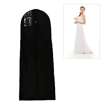 Afufu Housse De Robe De Mariée 180 Cm Respirant Housse à Vêtements Plus Long Pour Costumes Manteaux Vestes Pantalons Noir