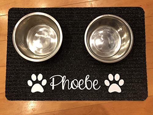 (Dog Food Mat- Personalized Dog- Pet Placemat- Dog Cat Gift- Water Bowl Mat- Dog Mat- Pet Food Placemat Custom Doormat, Doormat Personalized)