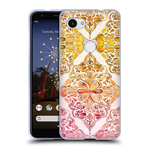 (Official Micklyn Le Feuvre Sunset Art Nouveau Mandala Soft Gel Case Compatible for Google Pixel 3a)