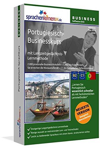 Portugiesisch-Businesskurs mit Langzeitgedächtnis-Lernmethode von Sprachenlernen24: Lernstufen B2+C1. Portugiesisch lernen für den Beruf. Software PC CD-ROM für Windows 10,8,7,Vista,XP/Linux/Mac OS X