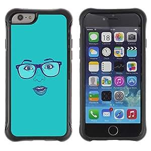 "Hypernova Defender Series TPU protection Cas Case Coque pour Apple (4.7 inches!!!) iPhone 6 [Cara atractiva Gafas Labios azules de la mujer""]"