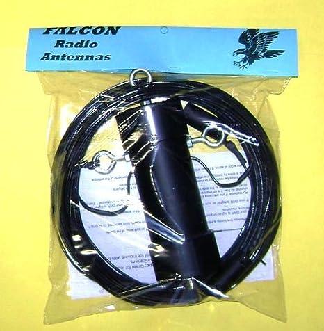Falcon - Antena central de radio de 80 a 6 metros, con diapola aficionada