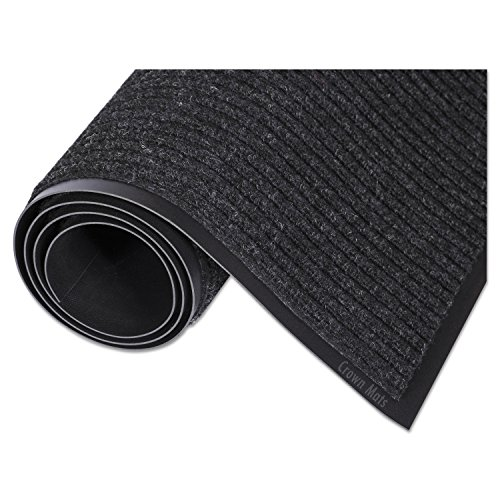 Crown NR0035CH Needle Rib Wipe & Scrape Mat Polypropylene 36 x 60 Charcoal, 36 x 60, Charcoal