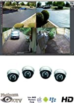 High Definition HDTV 4-Camera MegaPixel IP Camera Alnet System with 4 Indoor Infrared IR Dome Cameras
