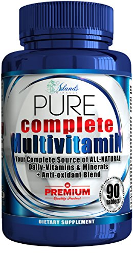 Best Natural Source Vitamin C (Daily Multivitamin + Antioxidant For Men & Women All Natural Vitamins A, B Complex, C, Vitamin D3 2000 IU, E, Biotin Best Complete Multivitamins & Minerals Supplements (Full 3 Month Supply))