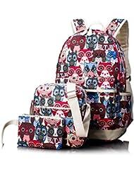 Leaper Cute Laptop Backpack School Bag Daypack Shoulder Bag Pencil Case Set