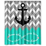 Infinity Live The Life You Love,Love The Life You Live Chevron Pattern With  Nautical