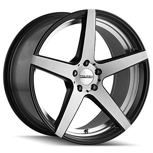 """Touren TR20 18x9.5 5x120 +35mm Black/Machined Wheel Rim 18"""" Inch"""