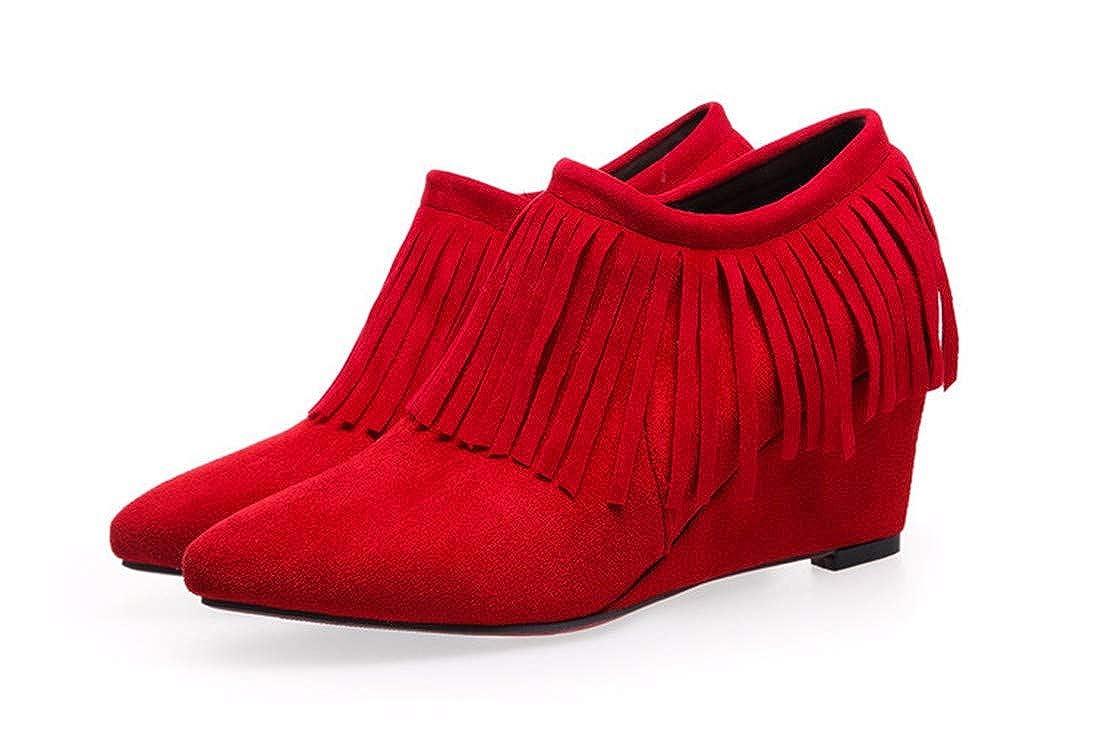 AIKAKA AIKAKA AIKAKA Frauen Herbst und Winter Europa und Amerika Sexy warme High Heel Schuhe Stiefeletten Stiefel Keil einzigen 92af28