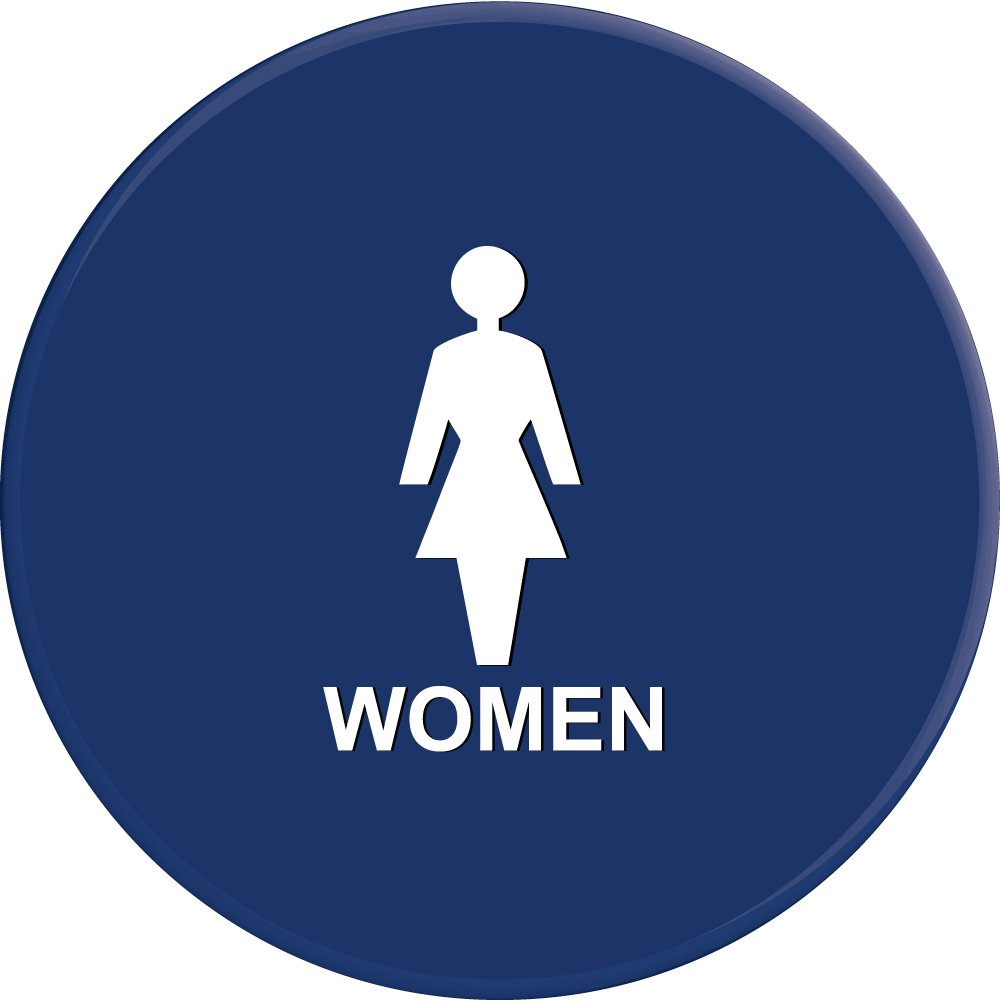 Lynch Signs 12 in. Sign Blue Circle with Women Symbol by Lynch Signs