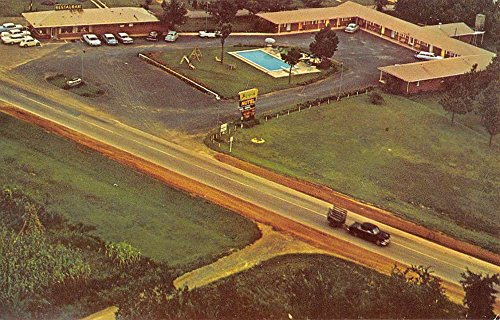 Adairsville Georgia Sequoyah Motel Birdseye View Vintage Postcard K55119