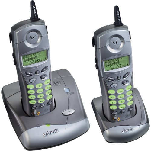 5.8 Ghz Cordless Handset (VTech ip5825 5.8 GHz DSS Cordless Speakerphone with Dual Handsets and Caller ID (Pewter))