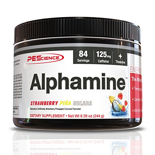 PEScience Alphamine Versatile Thermogenic Energy Powder, Strawberry Pina Colada, 8.59 -