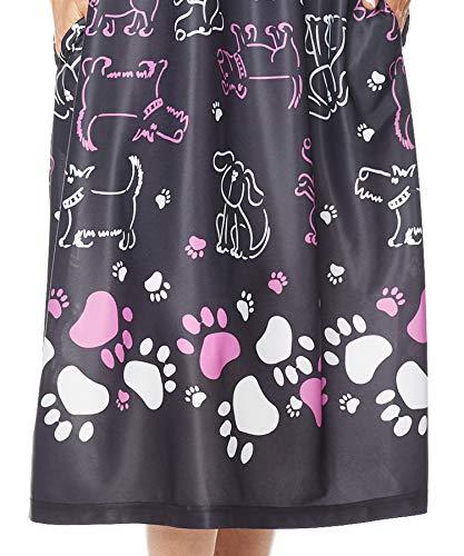 AmeriMark Women's Lounger House Dress - Short Sleeve Patio Dress w/Side Pockets