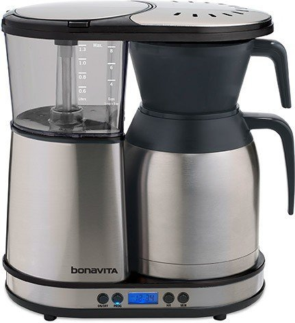 Bonavita BV1900TD Automatic Programmable Coffee Brewer, Silver by Bonavita