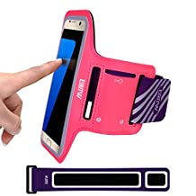 Galaxy S7 Armband: EOTW Sports Exercise Armband Case For Samsung S7 S6 S5 S4 S3 iPhone 6 6S SE 5S 5 5C, Cell phone Arm Band Pouch Pocket For Running Walking With ID Cards Keys Cashes (Pink 5.1 Inch)