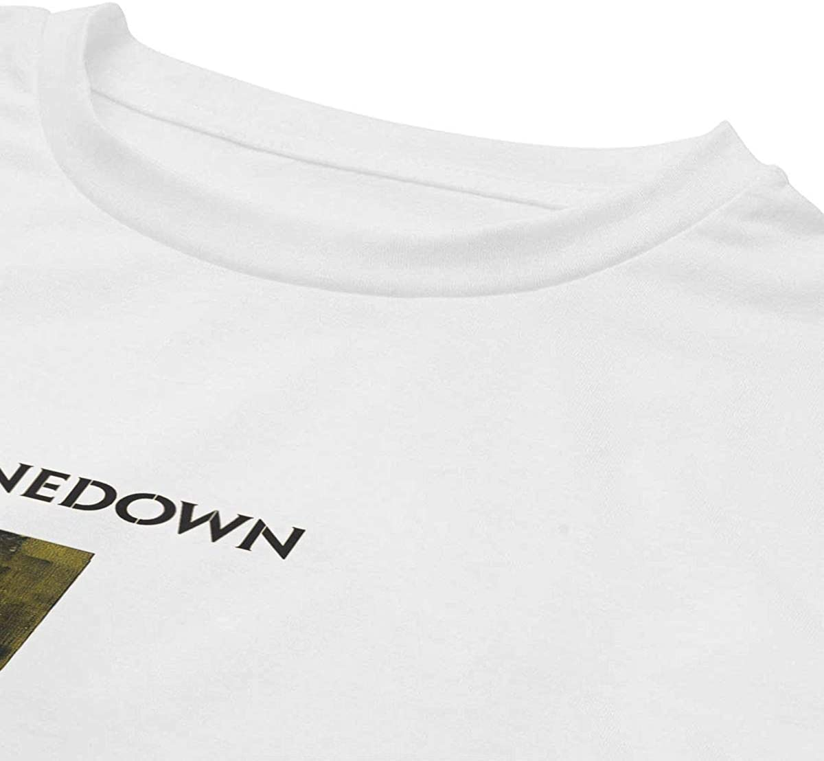 BobbyElliott Shinedown Womans Short Sleeve T-Shirt Casual Basic Soft Crop Top Tees White