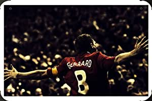Steven Gerrard Football metal poster cartel hojalata signo 20x30cm