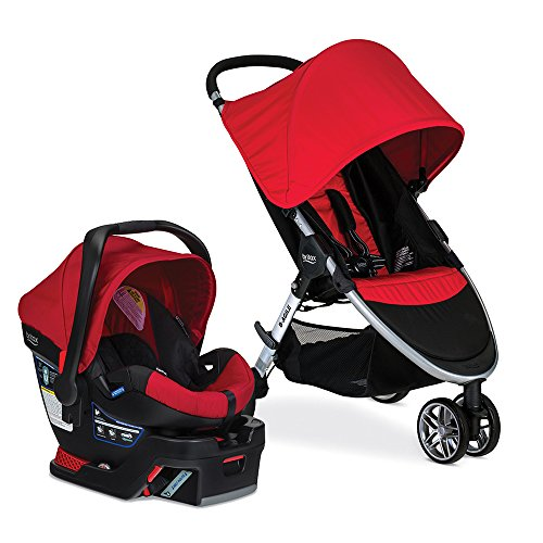 Britax 2017 B Agile & B Safe 35 Travel System, Red Red Usa Systems