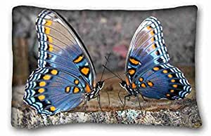 """Soft Pillow Case Cover Animal Zippered Body Pillow Case Cover Size 20""""X30"""" suitable for Queen-bed"""