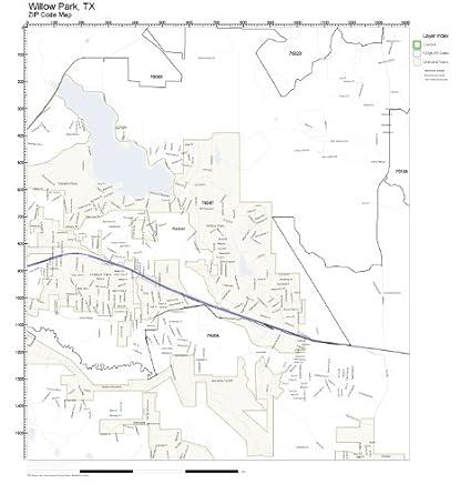 Amazon Com Zip Code Wall Map Of Willow Park Tx Zip Code