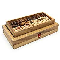 BRAIN GAMES 3in1 Wooden Chess, Backgammon Checker Set, Small