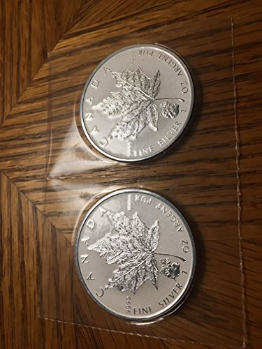 Silver Panda Coin Set (CA 2016 Pair of Silver Maple Leaf 2x1 oz Pure Silver Coin Panda Privy Mint State)
