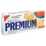 Premium Saltine Crackers, 8-Ounce Boxes (Pack of 12)
