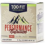 Too Fit ® PRE | All Natural Stimulant Free Pre Workout Supplement Drink Powder | Organic Adaptogens, BCAA's, Creatine Magnapower, Cognizin, Carnosyn, | Blackberry Lemonade, 10 Single Servings
