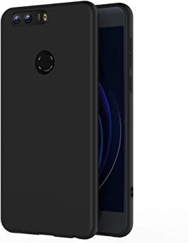 AICEK Funda Honor 8, Negro Silicona Fundas para Huawei Honor 8 ...