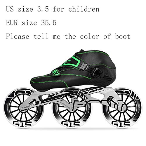 Old street 100% Original Bont Enduro Speed Skates Size 29-40 Heatmoldable Carbon Fiber Frame 390/100/110Mm Wheels Racing Patines,35.5 Tell Me Color