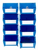 Triton Products 028-B Bin Kits for Pegboard Storage, Blue, 8-Pieces