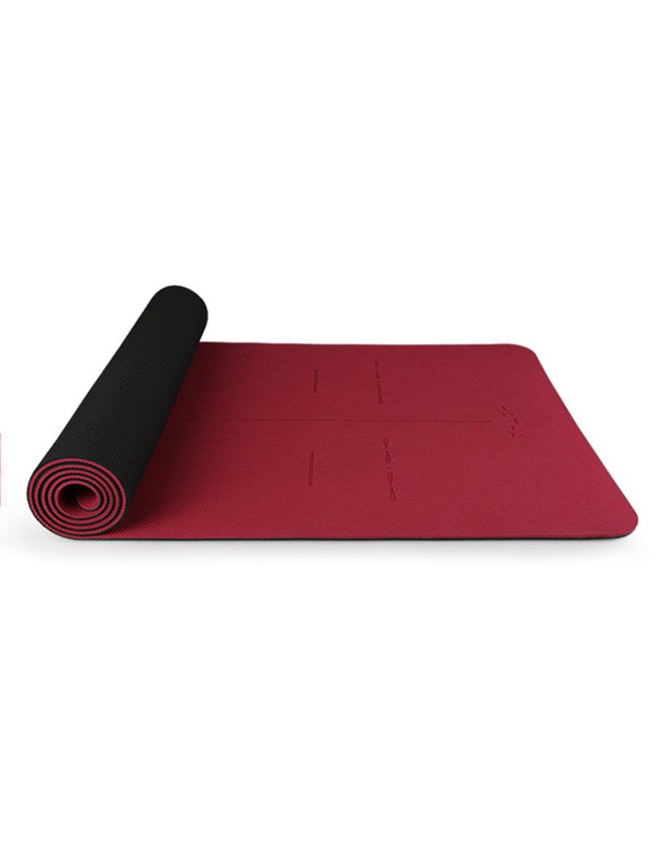 Anti-Rutsch-Yoga-Matte --- TPE Profi-rutschfest Natürlicher Umweltschutz Yoga Matte Fitness-Matte, Farbe optional --- Naturkautschuk Yoga-Matte, für Training / Pila