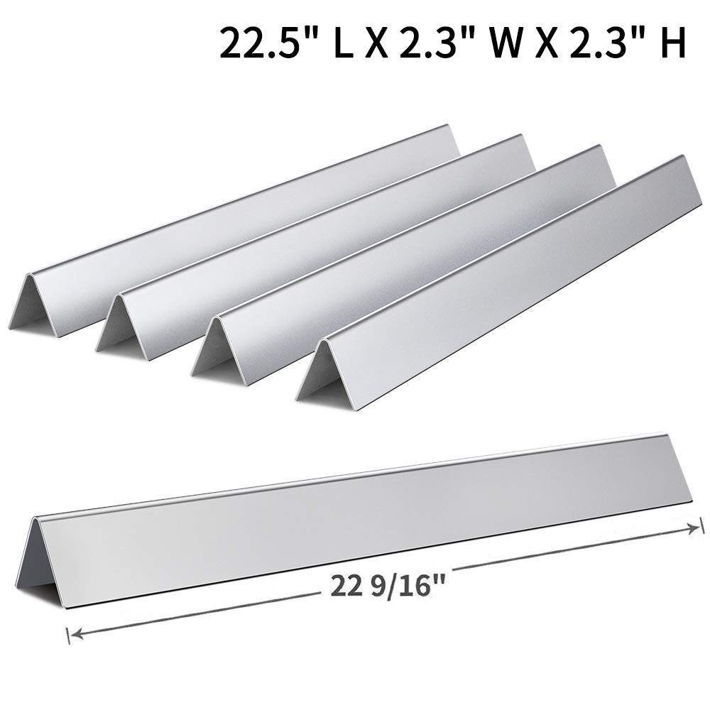 "SHINESTAR 7536-22.5"" Flavorizer Bar for Weber Spirit(3 Burners)E-310/E-320, Genesis Silver B/C, Gold B/C, Platinum B/C(with Side Control) Replacement Parts, 22 1/2 inch Stainless Steel Flavor Bar 7537"