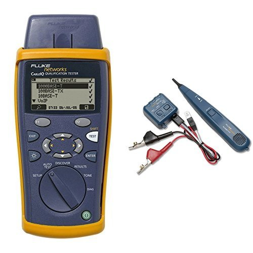 (Fluke Networks CIQ-100 Network Cable Tester and  26000900 Pro3000 Tone Generator and Probe Kit bundle)