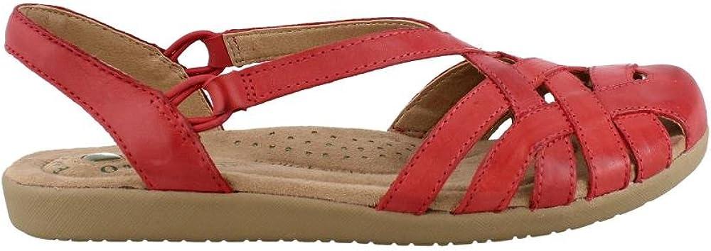 Earth Origins Women/'s Brielle Bright Red Suede sandals