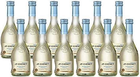 JP Chenet Vino Blanco - Pack de 12 Botellas de 0.25 l - Total: 3 l