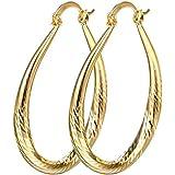Sumanee Women Elegant 18k Yellow Gold Filled stud Hoop Dangle Earring Wedding Jewelry